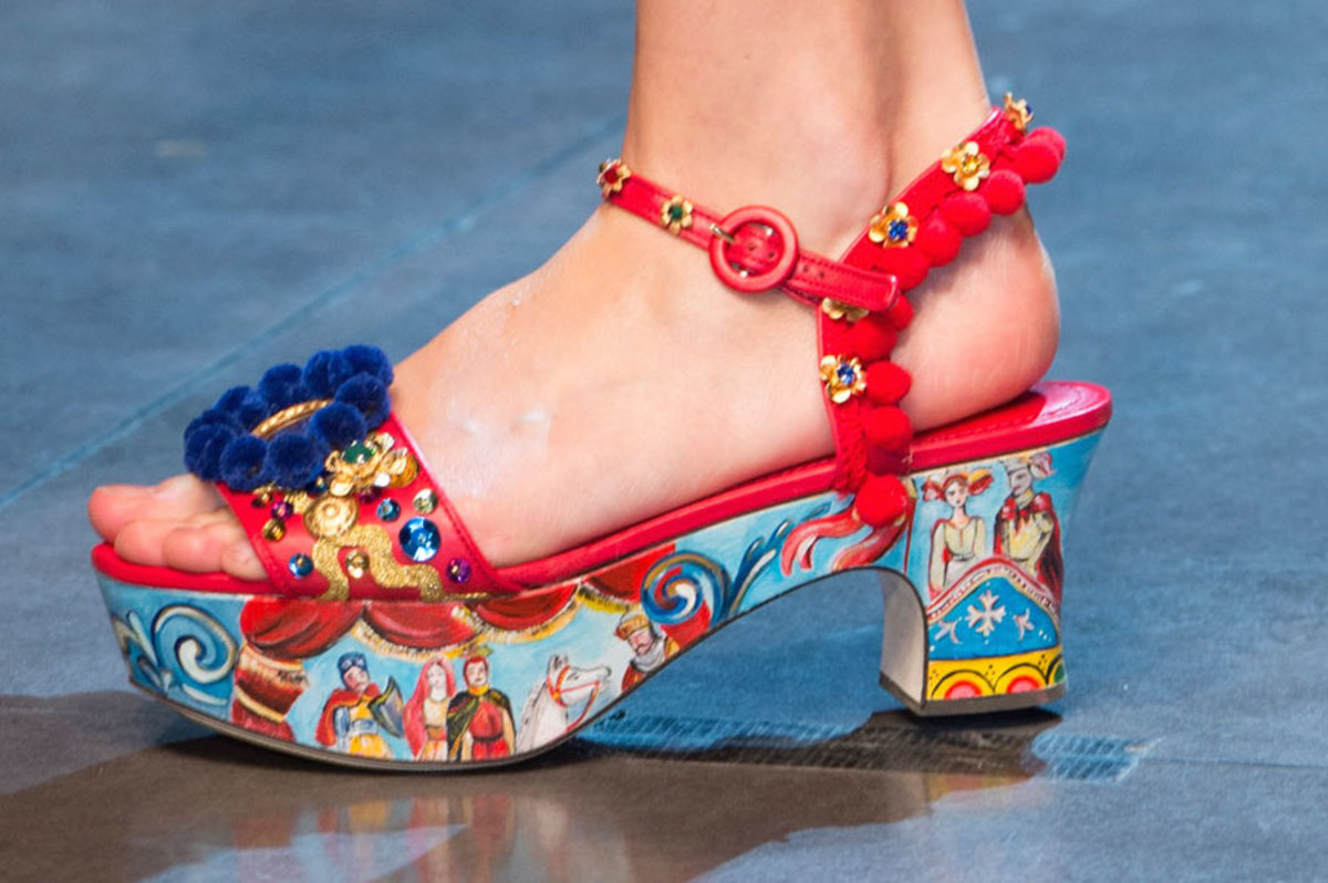 A shoe from the Dolce and Gabbana spring 2016 collection. Photo: Imaxtree