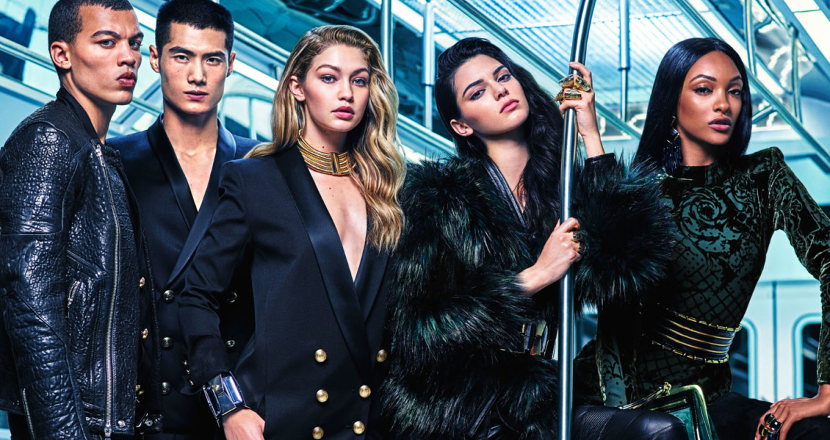 An image from the Balmain x H&M ad campaign. Photo: H&M