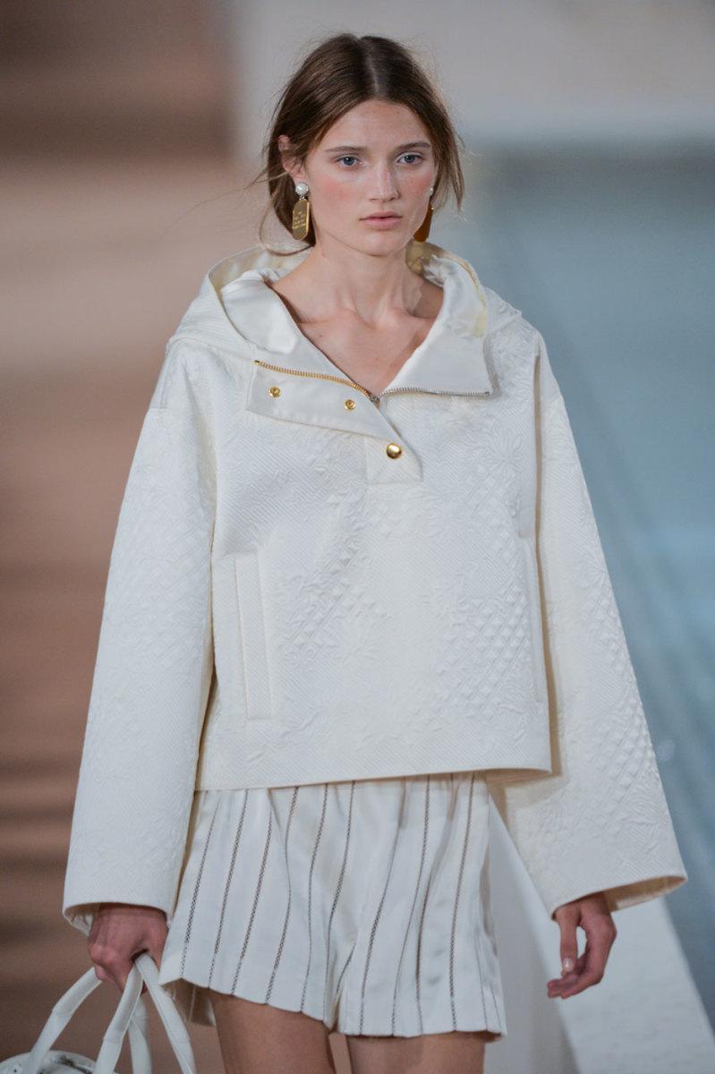 Olivia Jansing on the runway at Balenciaga. Photo: Imaxtree