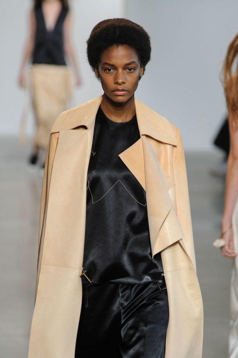 Karly Loyce on the runway at Calvin Klein. Photo: Imaxtree