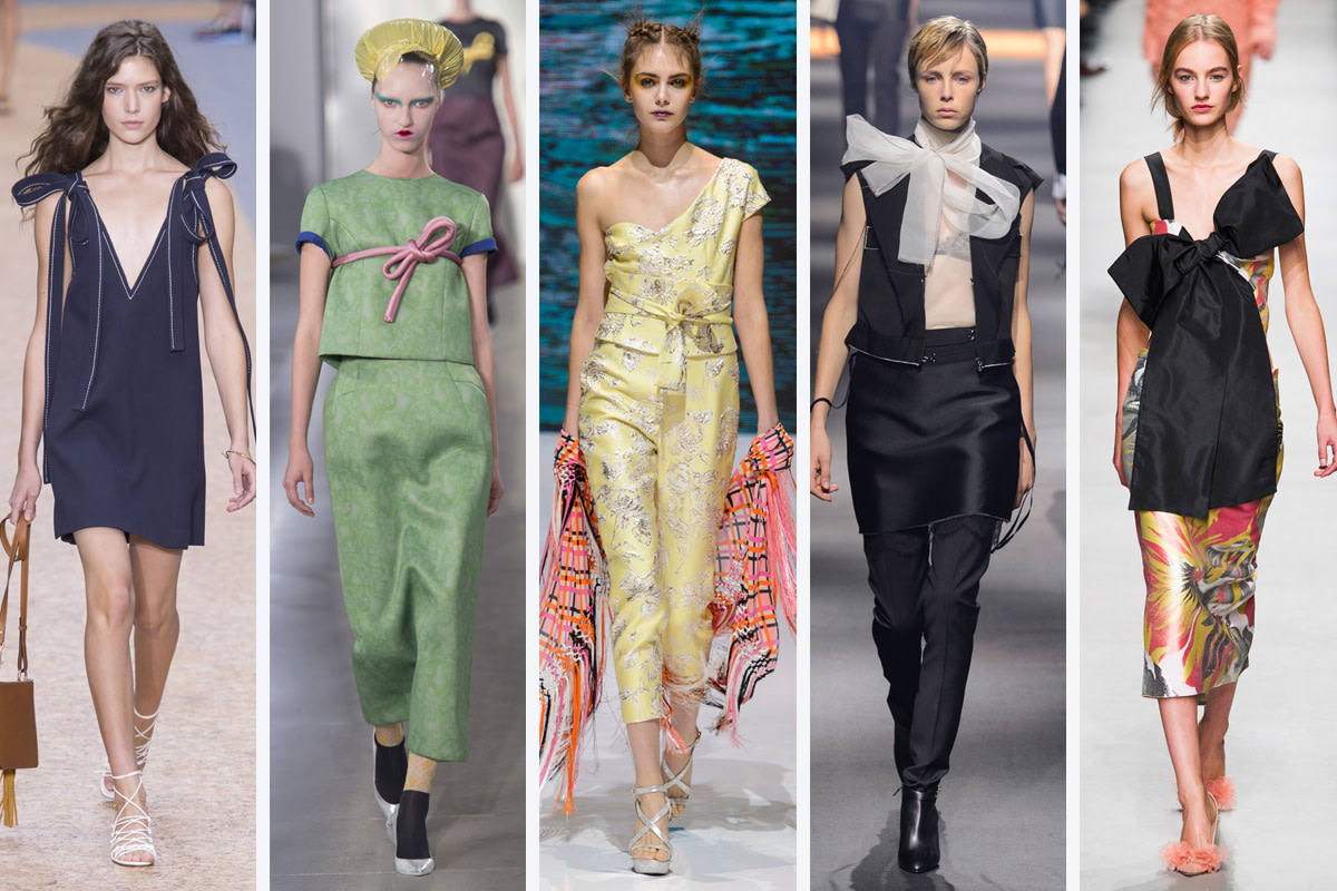 From left to right: Chloe, Maison Margiela, Pascal Millet, Lanvin, and Rochas