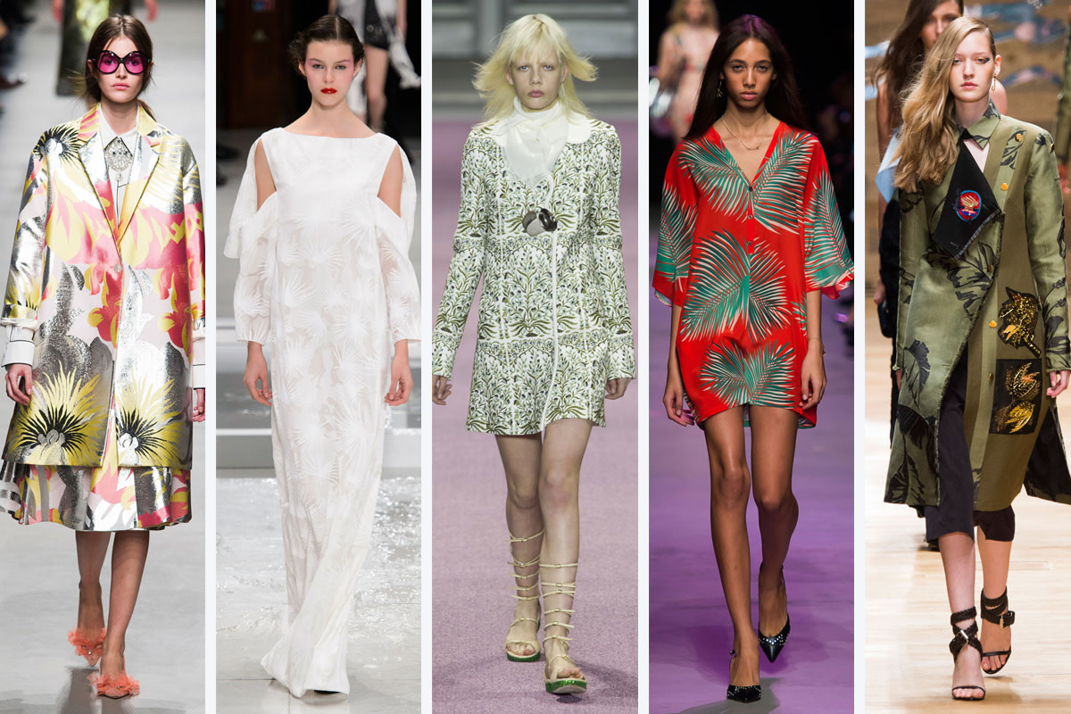 From left to right: Rochas, Chalayan, Giambattista Valli, Paul & Joe, and Guy Laroche