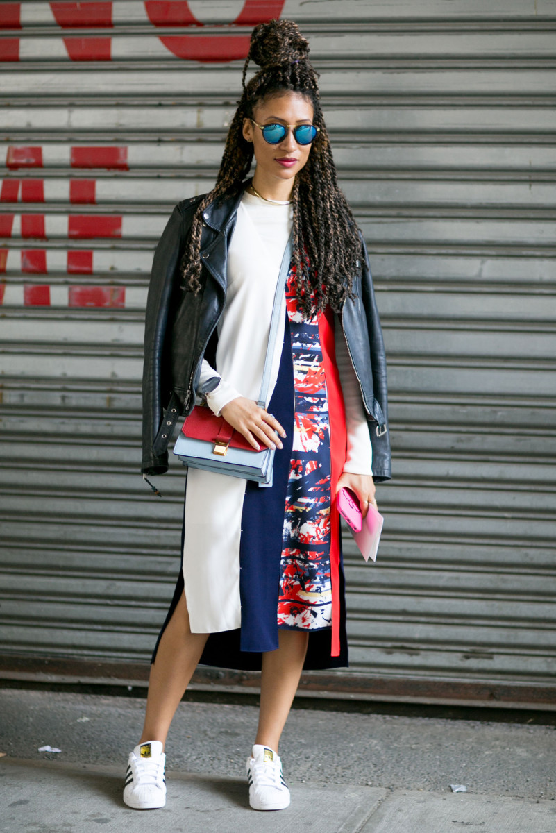 Teen Vogue Beauty and Health Director Elaine Welteroth at New York Fashion Week. Photo: Imaxtree