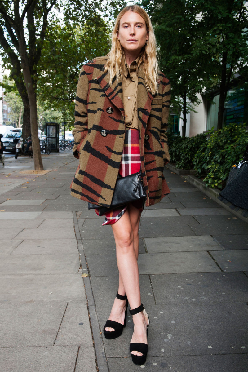 Dree Hemingway at London Fashion Week. Photo: Imaxtree