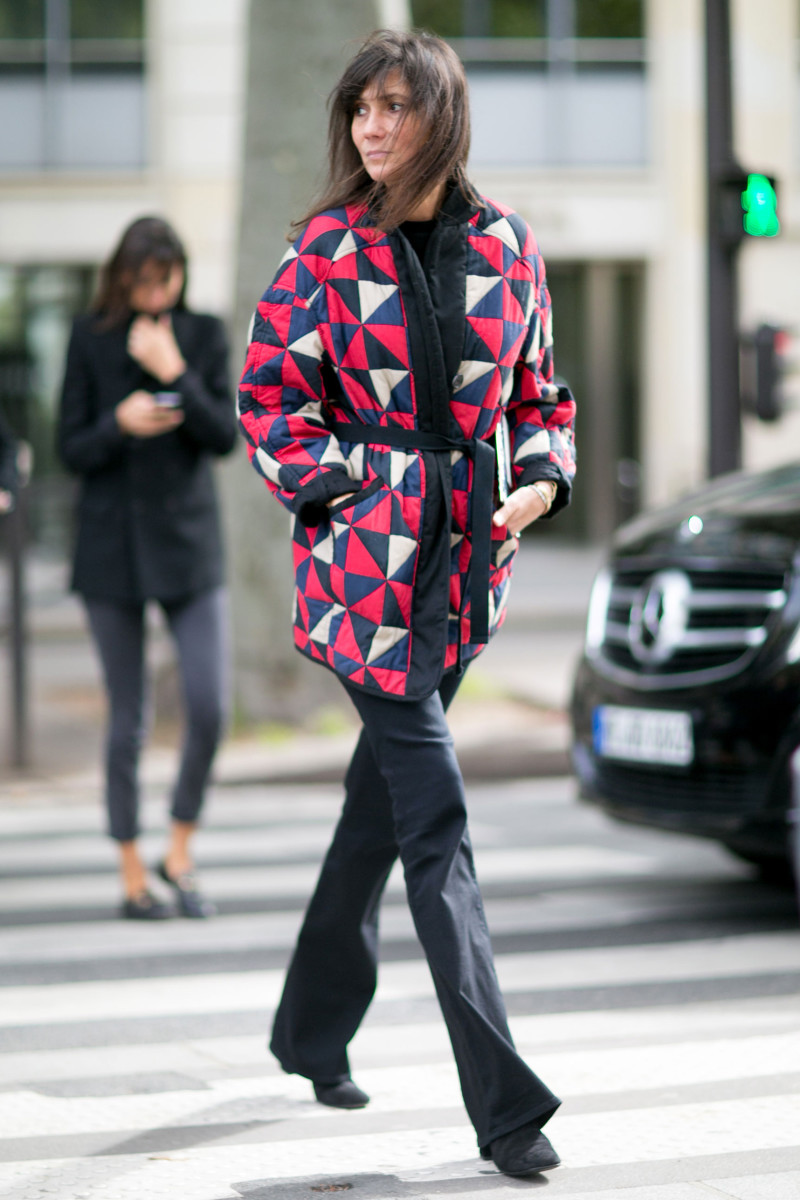 Vogue Paris Editor-in-Chief Emmanuelle Alt at Paris Fashion Week. Photo: Imaxtree