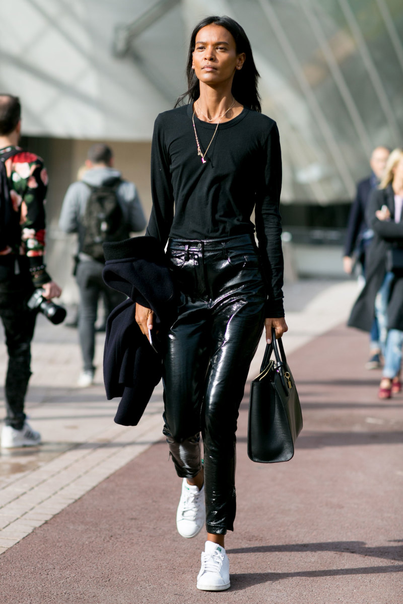 Model Liya Kebede at Paris Fashion Week. Photo: Imaxtree