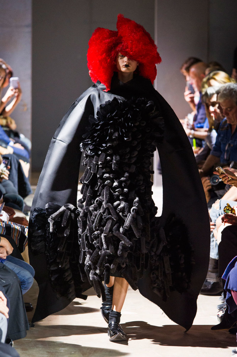 A look from Comme des Garçons's spring 2016 collection. Photo: Imaxtree