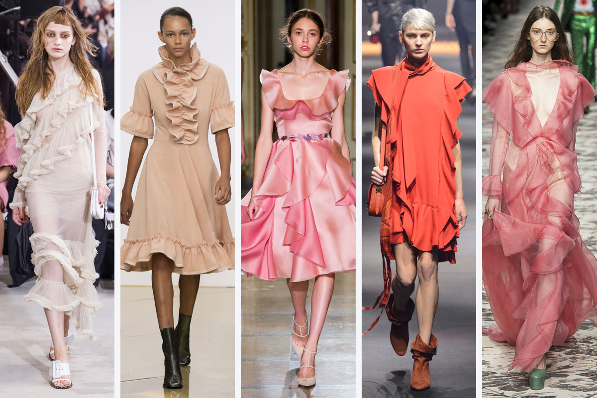 From left to right: Marques'Almeida, J.W. Anderson, Luisa Beccaria, Lanvin, and Gucci
