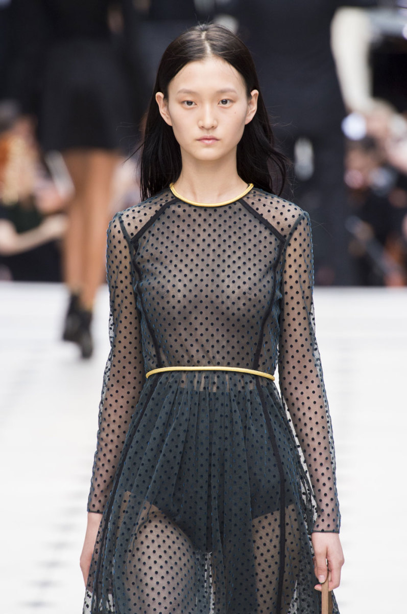 Wangy Xinyu on the runway at