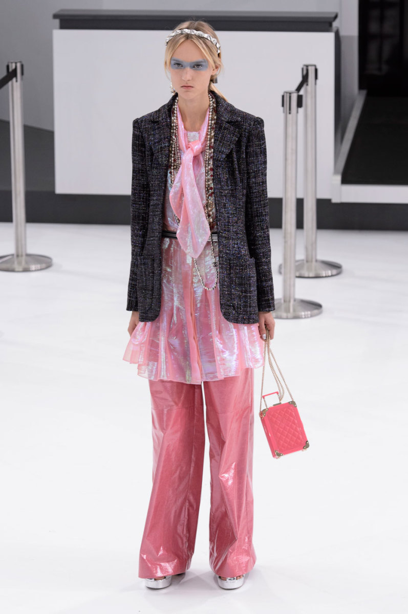 Harleth Kuusik on the runway at Chanel. Photo: Imaxtree