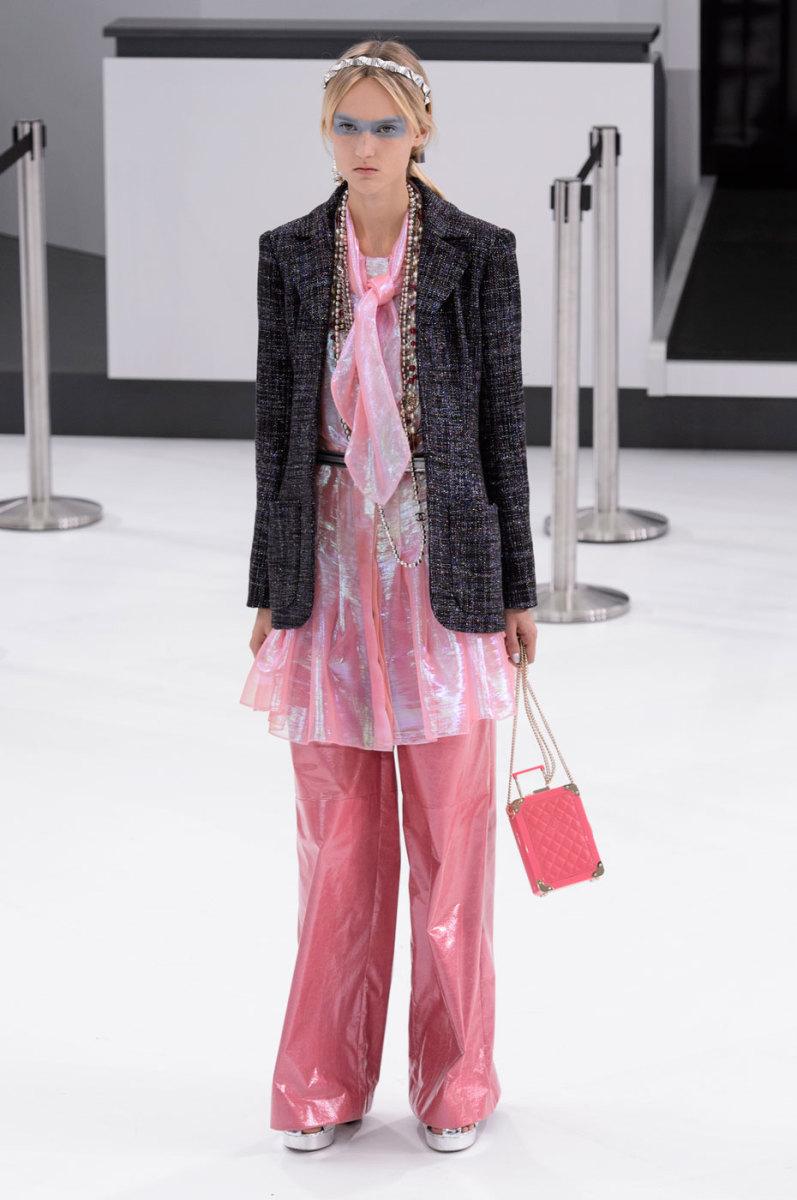 Harleth Kuusik on the runway at Chanel. Photo: Imaxtree