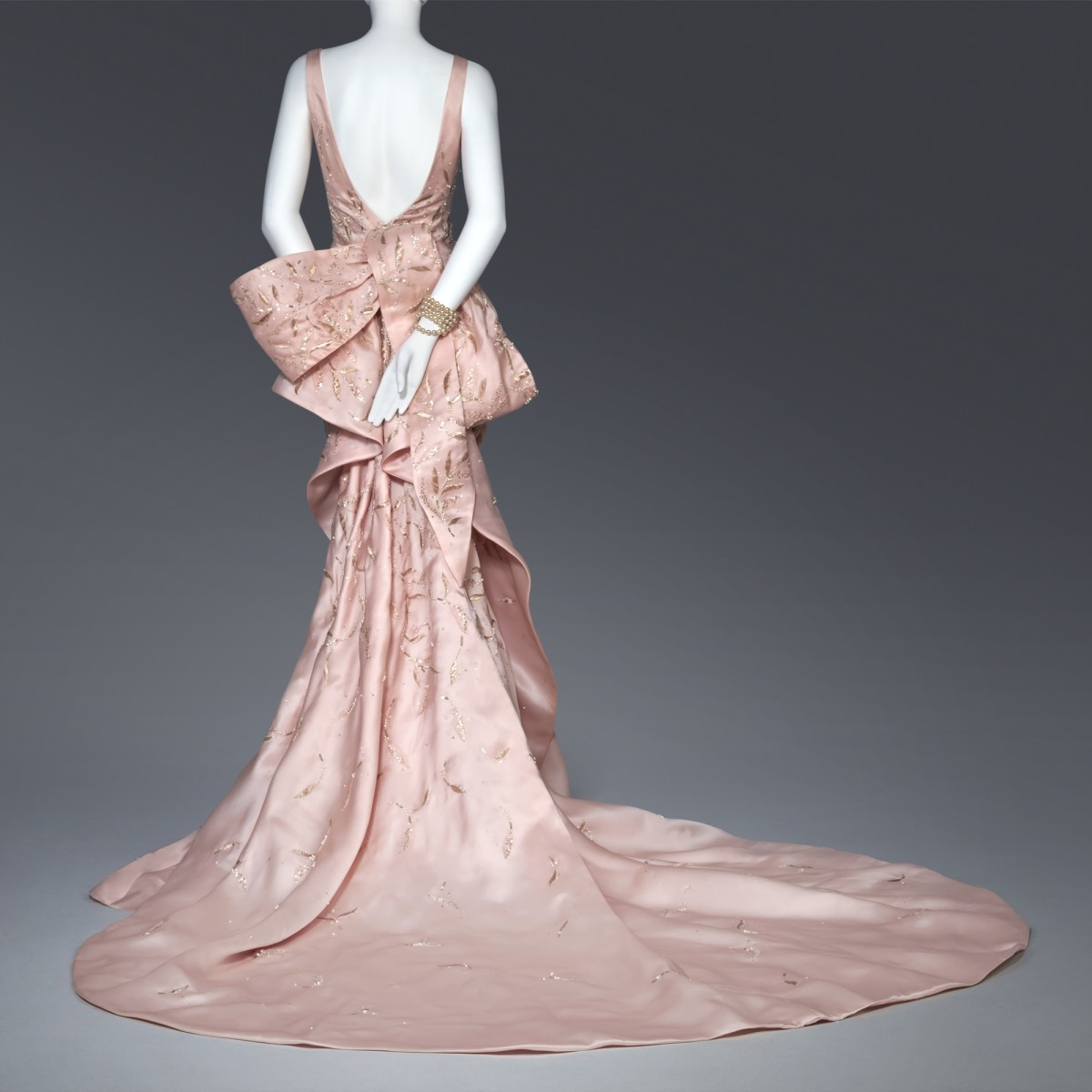 Taylor Swift's Met Ball dress, designed by Oscar de la Renta and on display at SCAD Fash. Photo: SCAD