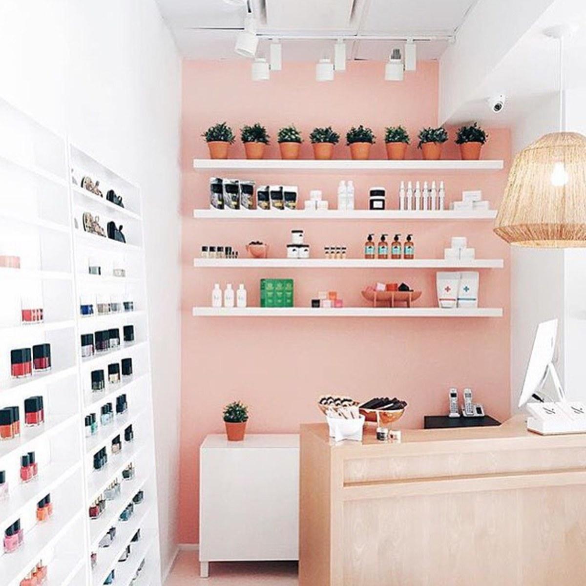 Inside the Olive & June boutique in Pasadena, California. Photo: Facebook