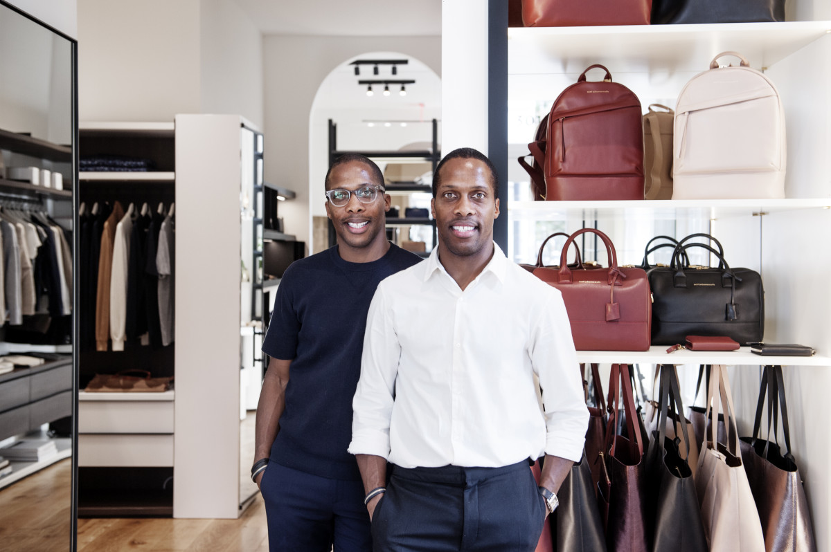 Dexter and Byron Peart. Photo: Want Les Essentiels
