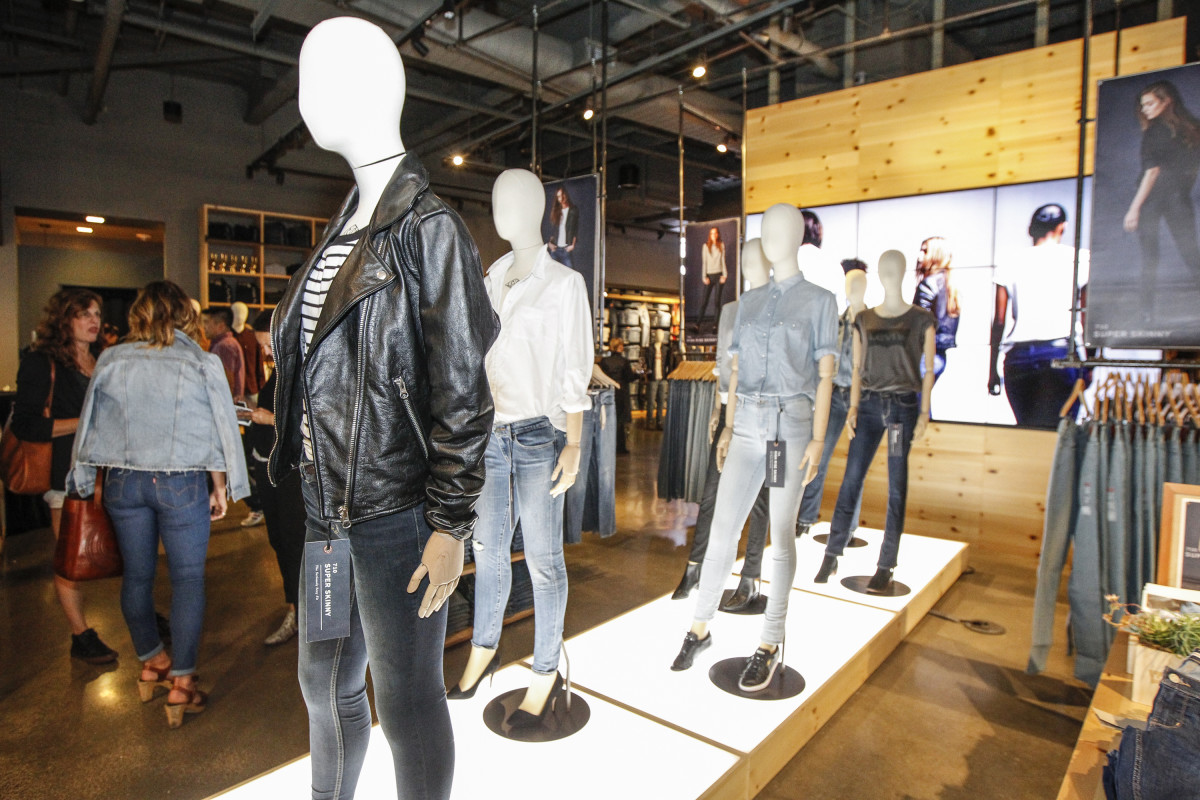 Guests shop at a Levi's store in San Francisco in July. Photo: Kimberly White/Getty Images for Levi's