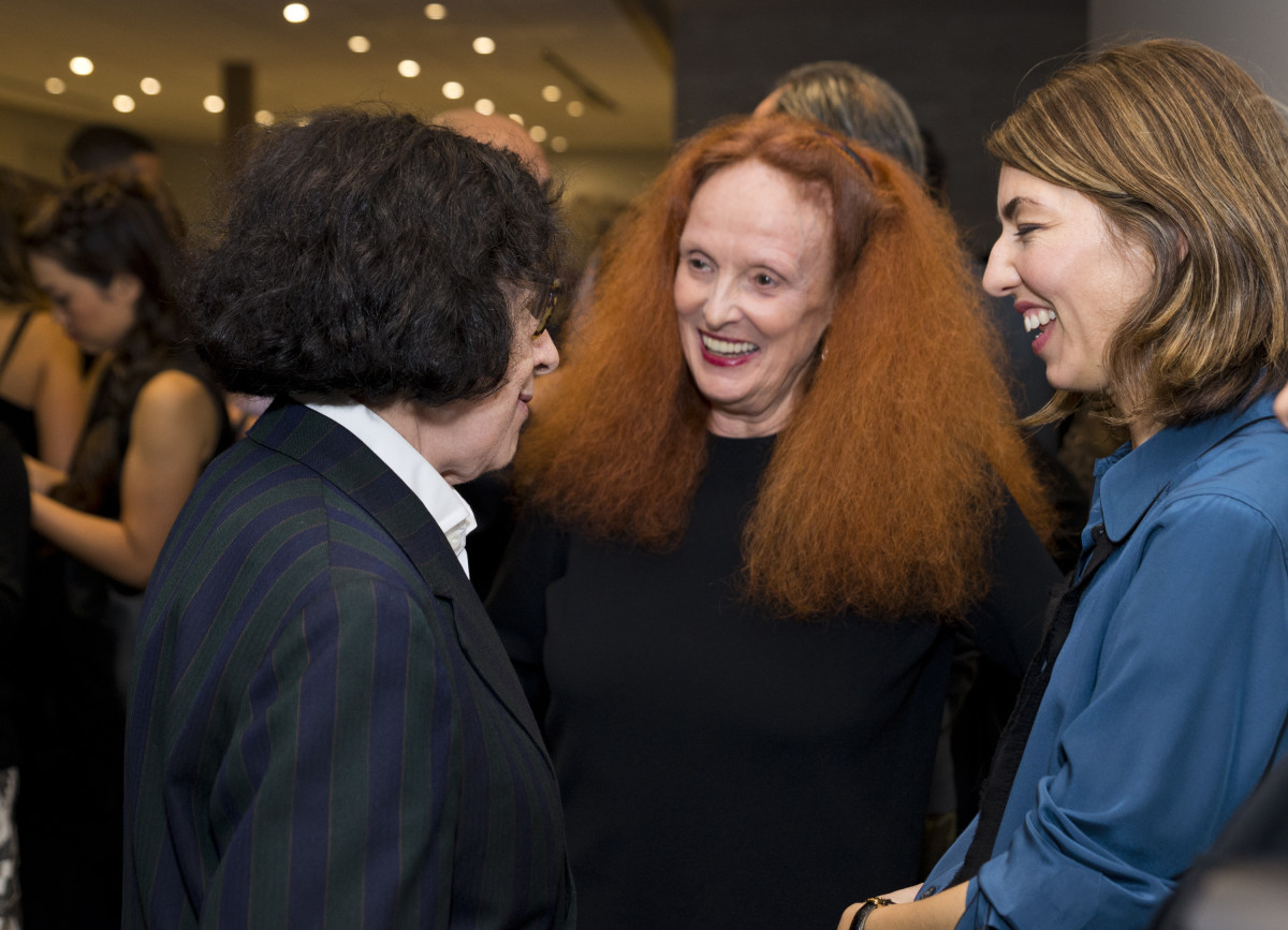 Fran Lebowitz, Grace Coddington, Sofia Coppola. Photo: Jenny Anderson/WireImage