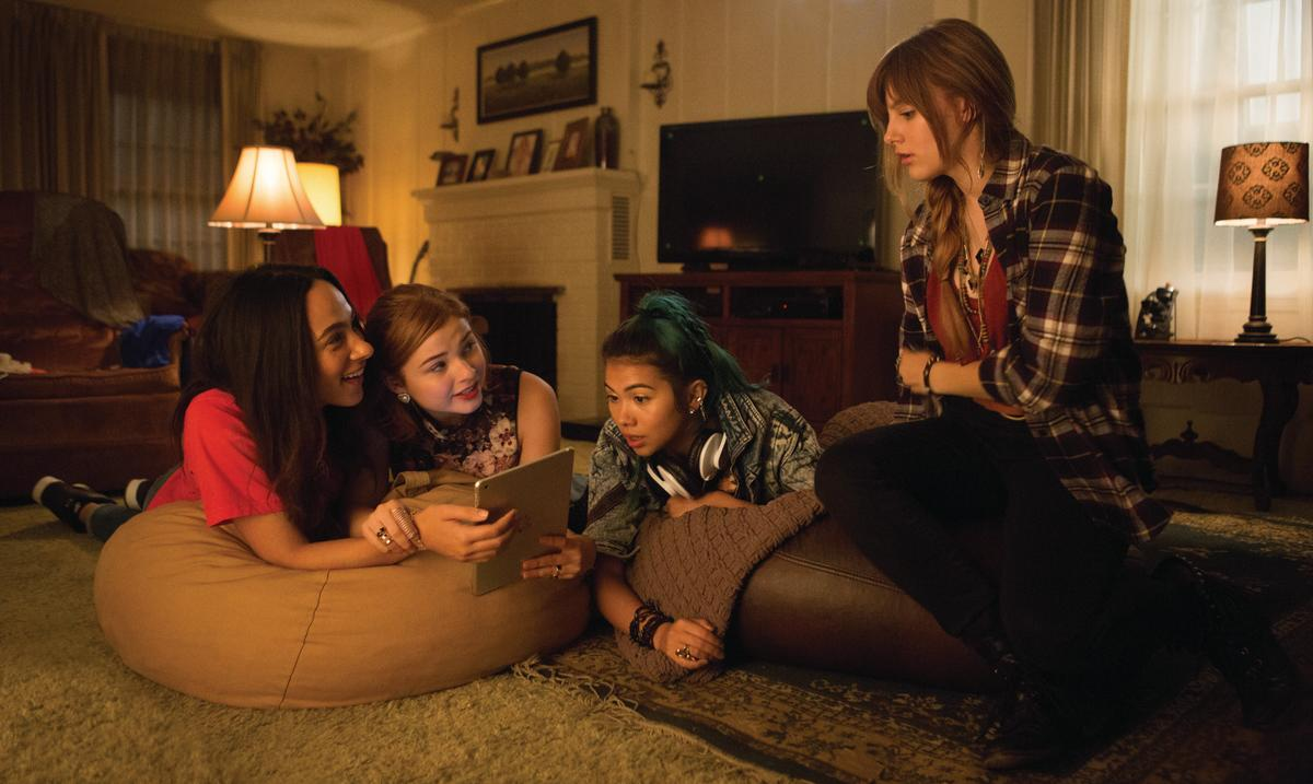 A pared-down Shana, Kimber, Aja and Jerrica/Jem. Photo: Justina Mintz/Universal Pictures