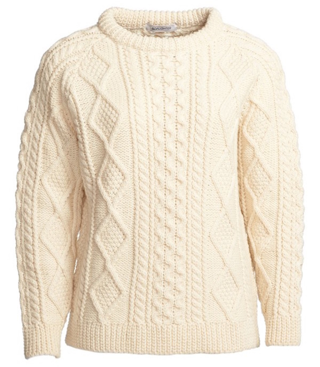 &Daughter Aran knit sweater, $260, available at Nordstrom.