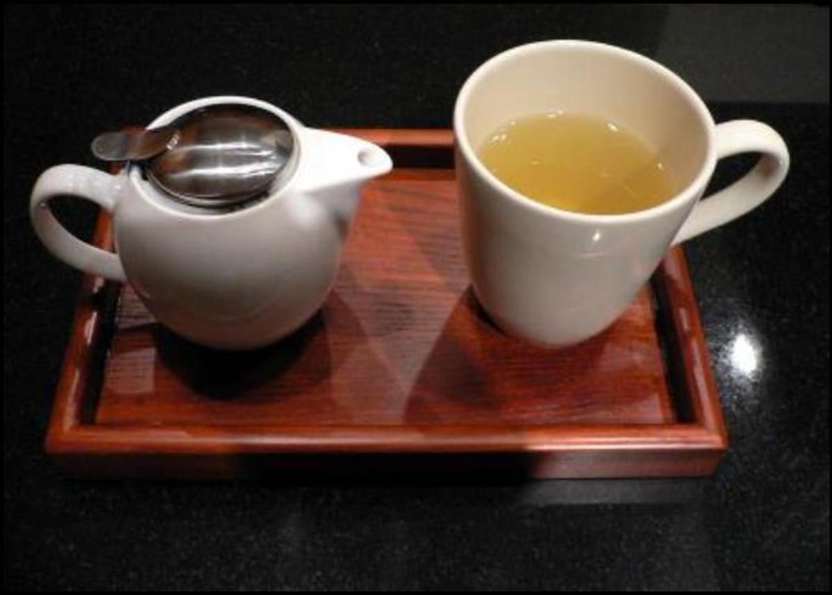 A simple green tea served at Nada Tea and Coffee House. Photo: Nada Tea and Coffee House