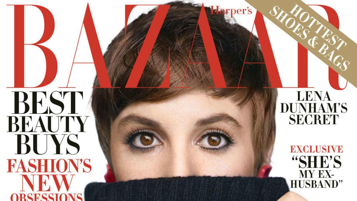 dress - Dunham lena stars on november harpers bazaar video