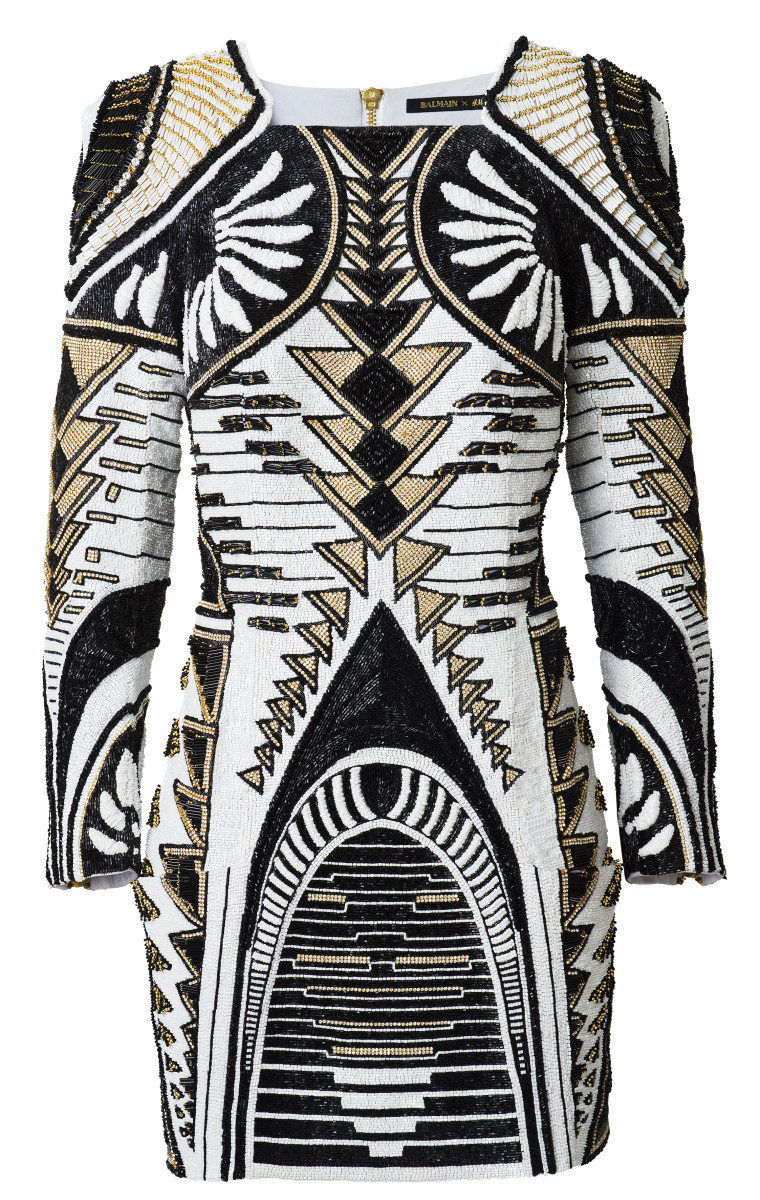 A $649 dress from the Balmain x H&M collection. Photo: H&M
