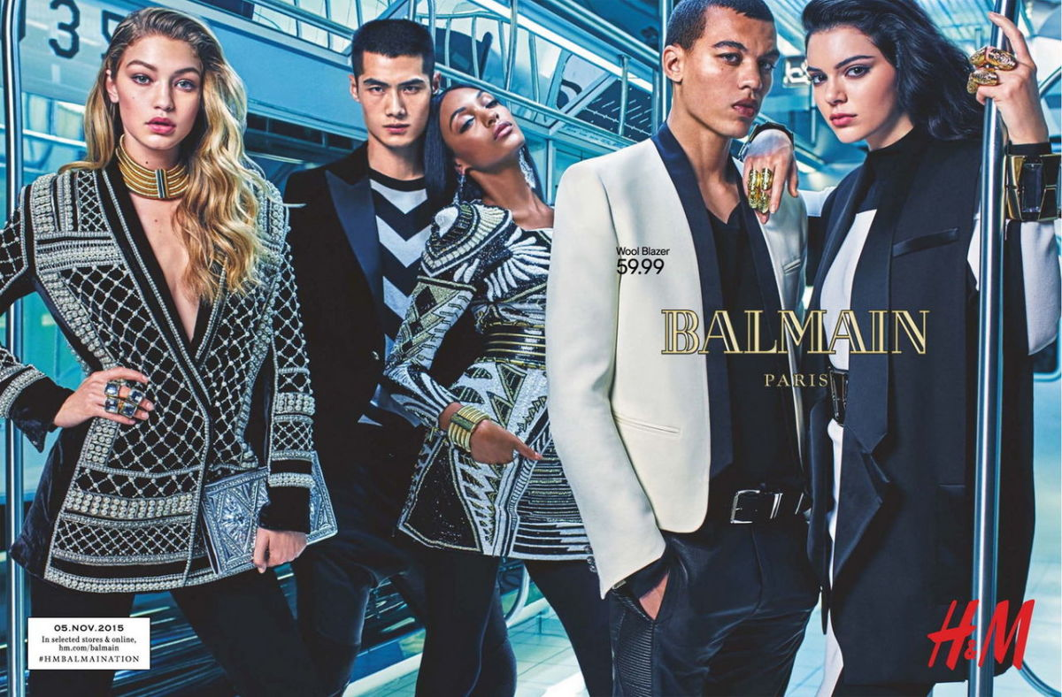Balmain x H&M campaign. Photo: H&M