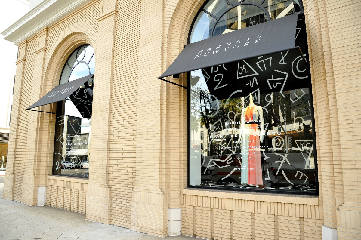 A Barneys storefront. Photo: John Sciulli/Getty Images