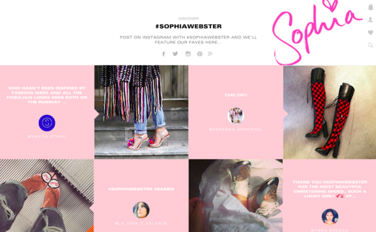 The new Sophia Webster website. Photo: Sophia Webster