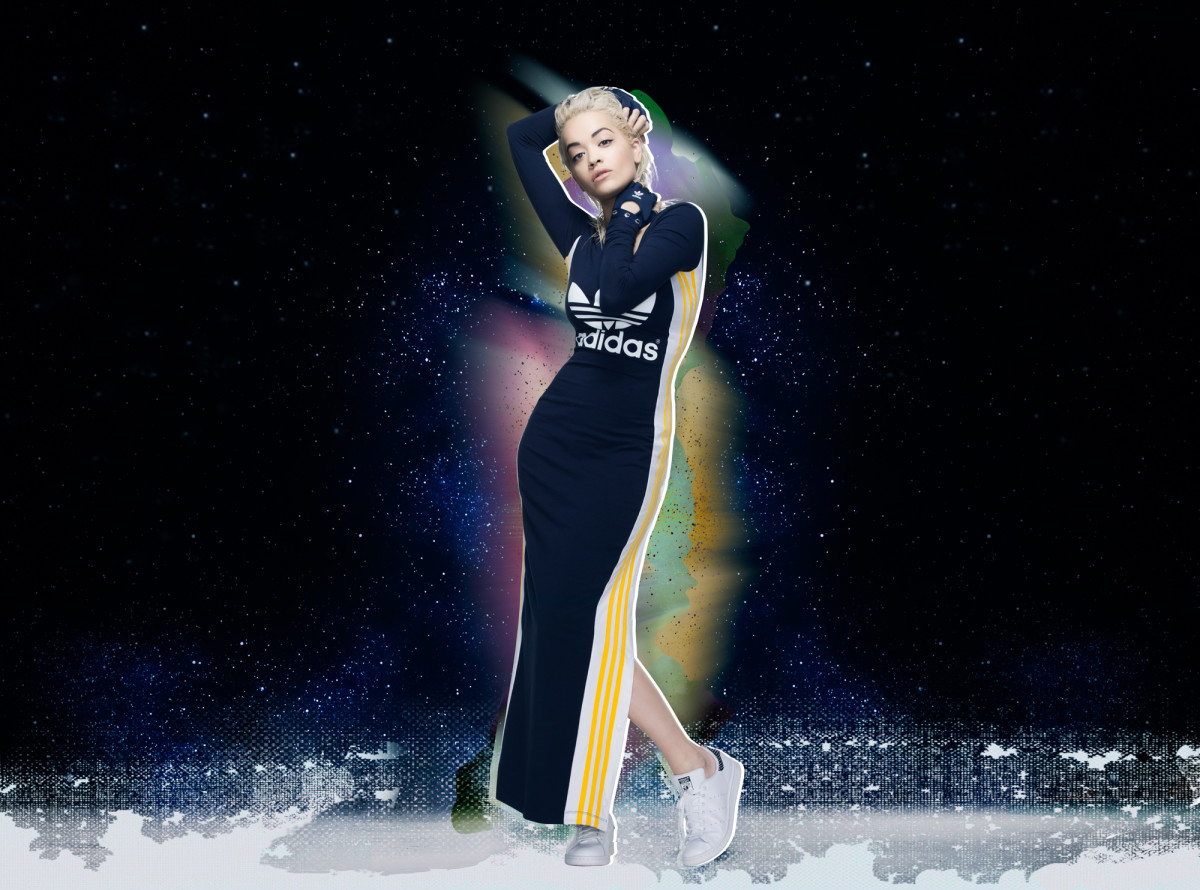 rita ora 39 s fall adidas collections were inspired by her tattoo fashionista. Black Bedroom Furniture Sets. Home Design Ideas