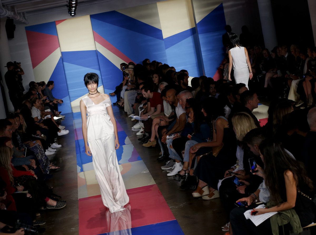 Baja East spring 2016 show during Made Fashion Week at Milk Studios in New York City. Photo: Brian Ach/Getty Images