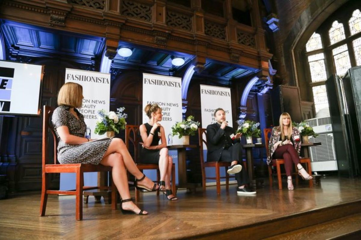 Photo: Fashionista's Lauren Indvik, Elle's Robbie Myers, InStyle's Ariel Foxman and Teen Vogue's Amy Astley at last year's Fashionista conference in New York. Photo: Fashionista