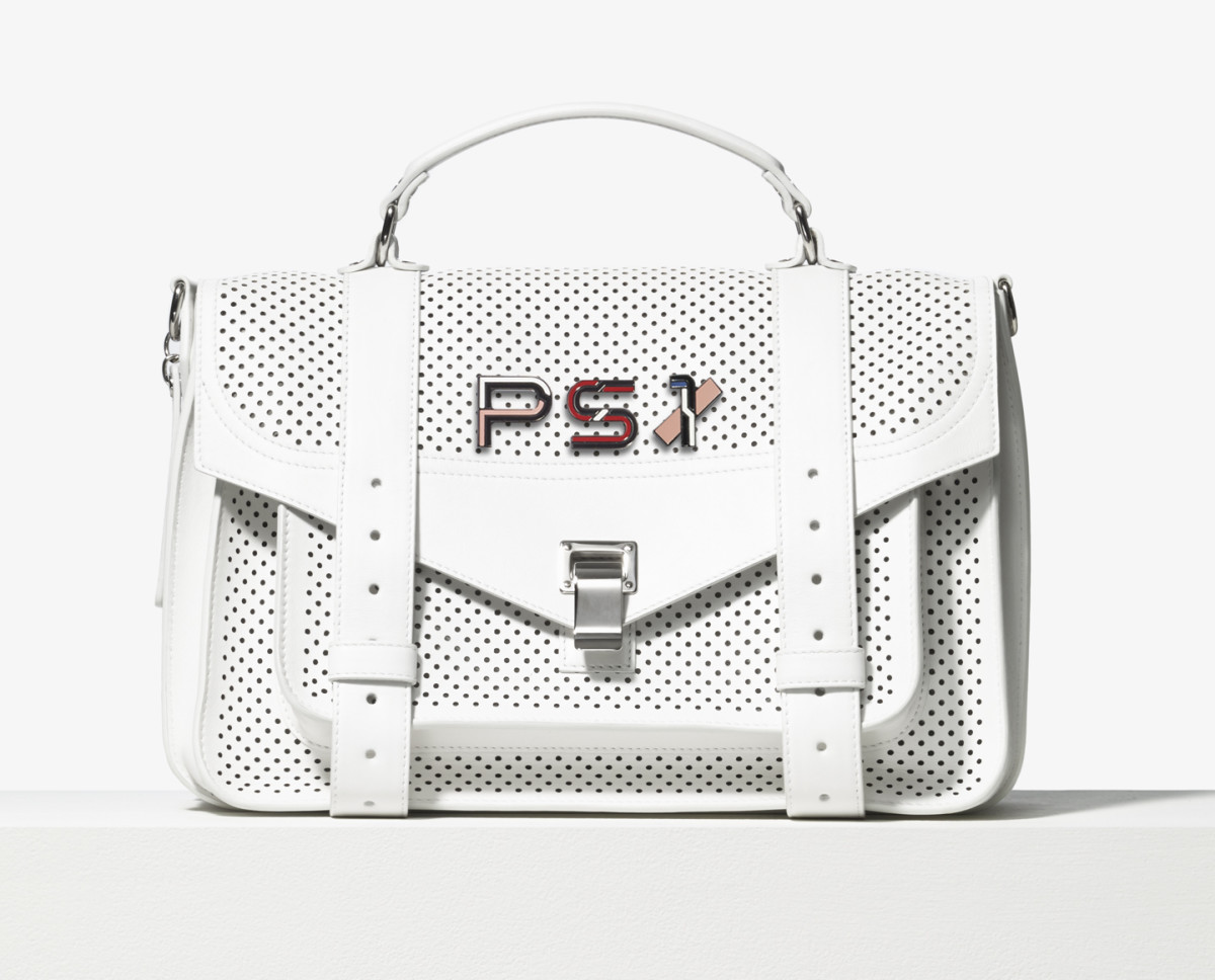 Proenza Schouler PS1 bag, $1,885 and pins, $75 each. Photo: Proenza Schouler