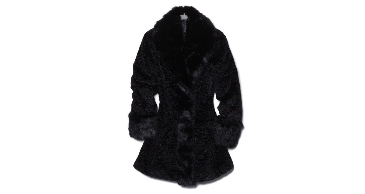 "Dan Lawson's ""From the Set"" faux fur coat. Photo: HSN"