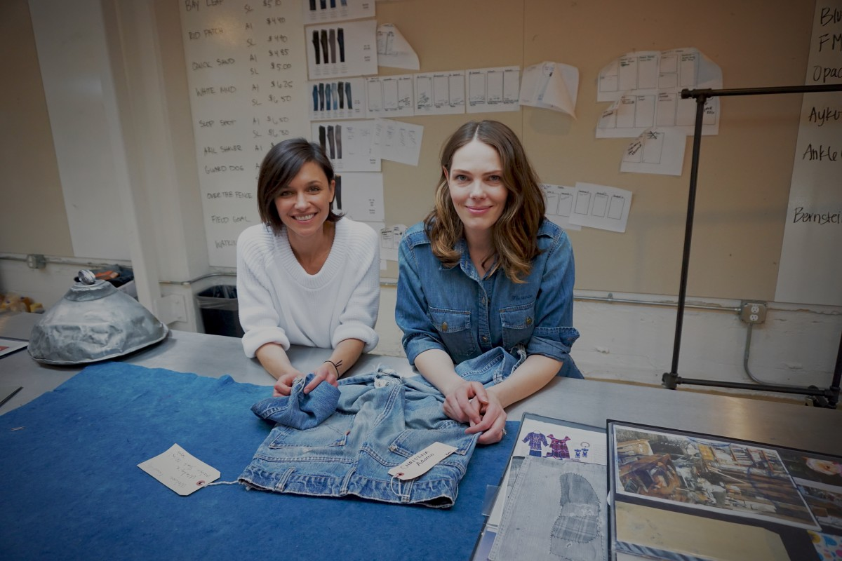 Jane Bishop and Florence Kane at the Levi's Eureka Innovation	Lab	in	San	Francisco. Photo: Levi's