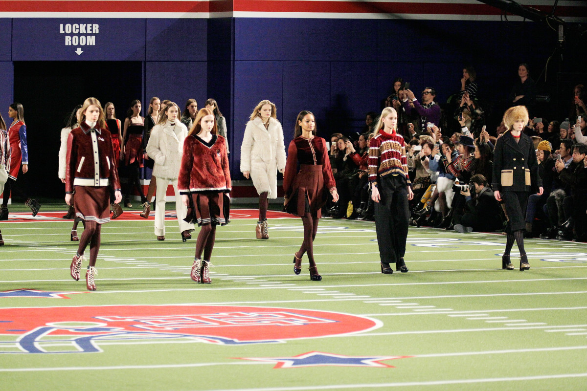 Tommy Hilfiger's fall 2015 runway. Photo: Randy Brooke/Getty Images