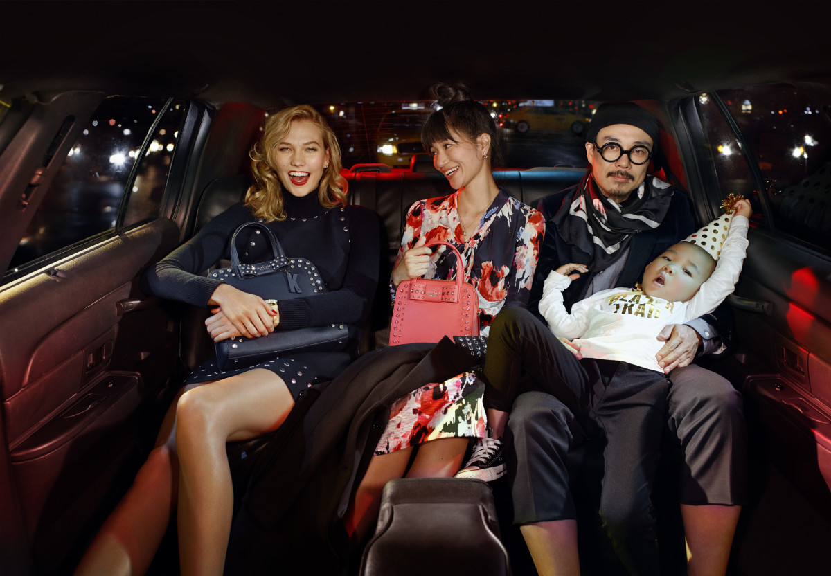 Karlie Kloss and the Matsuura family in the Kate Spade 2015 holiday campaign. Photo: Kate Spade