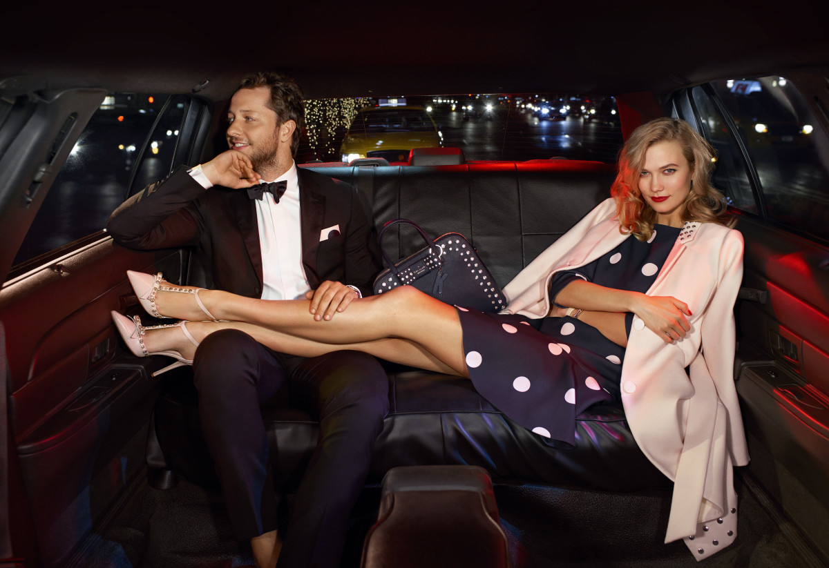 Derek Blasberg and Karlie Kloss in the Kate Spade 2015 holiday campaign. Photo: Kate Spade