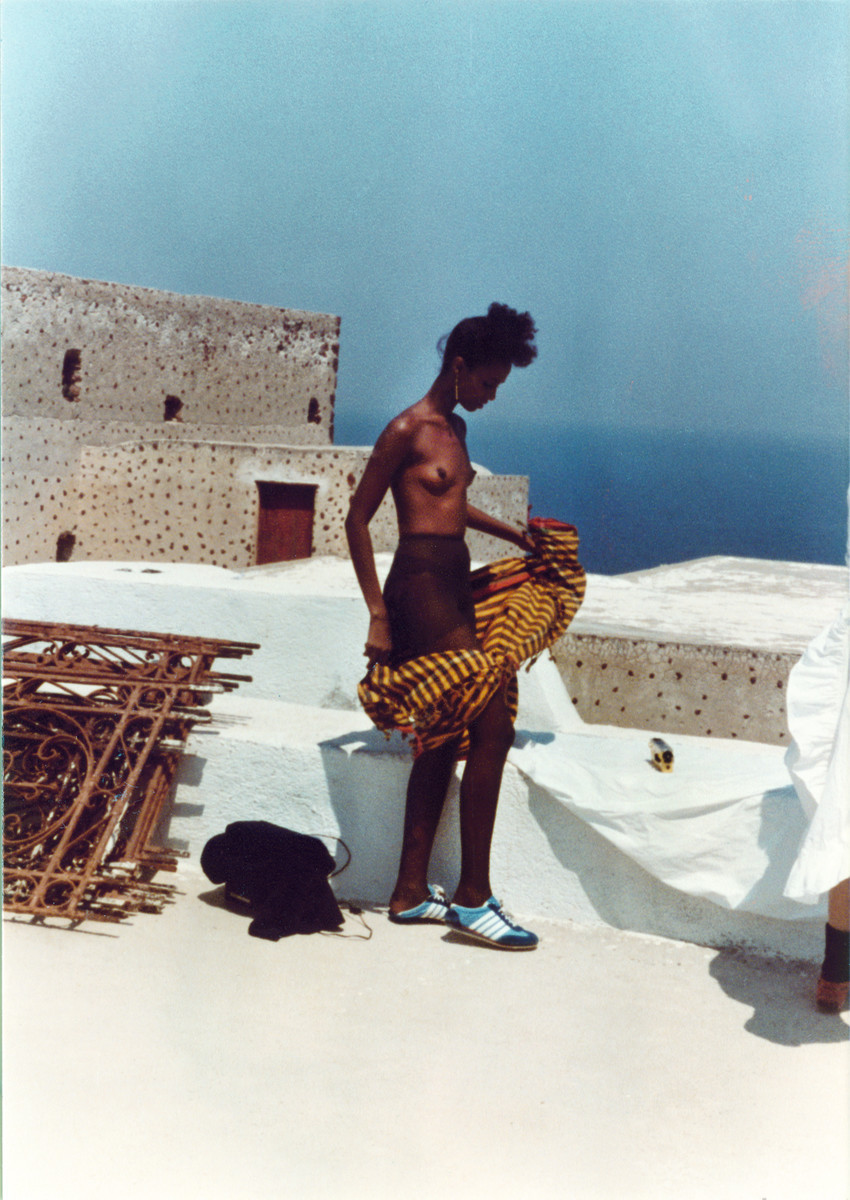 Santorini, Greece, 1982: Iman. Photo: Kelly Klein