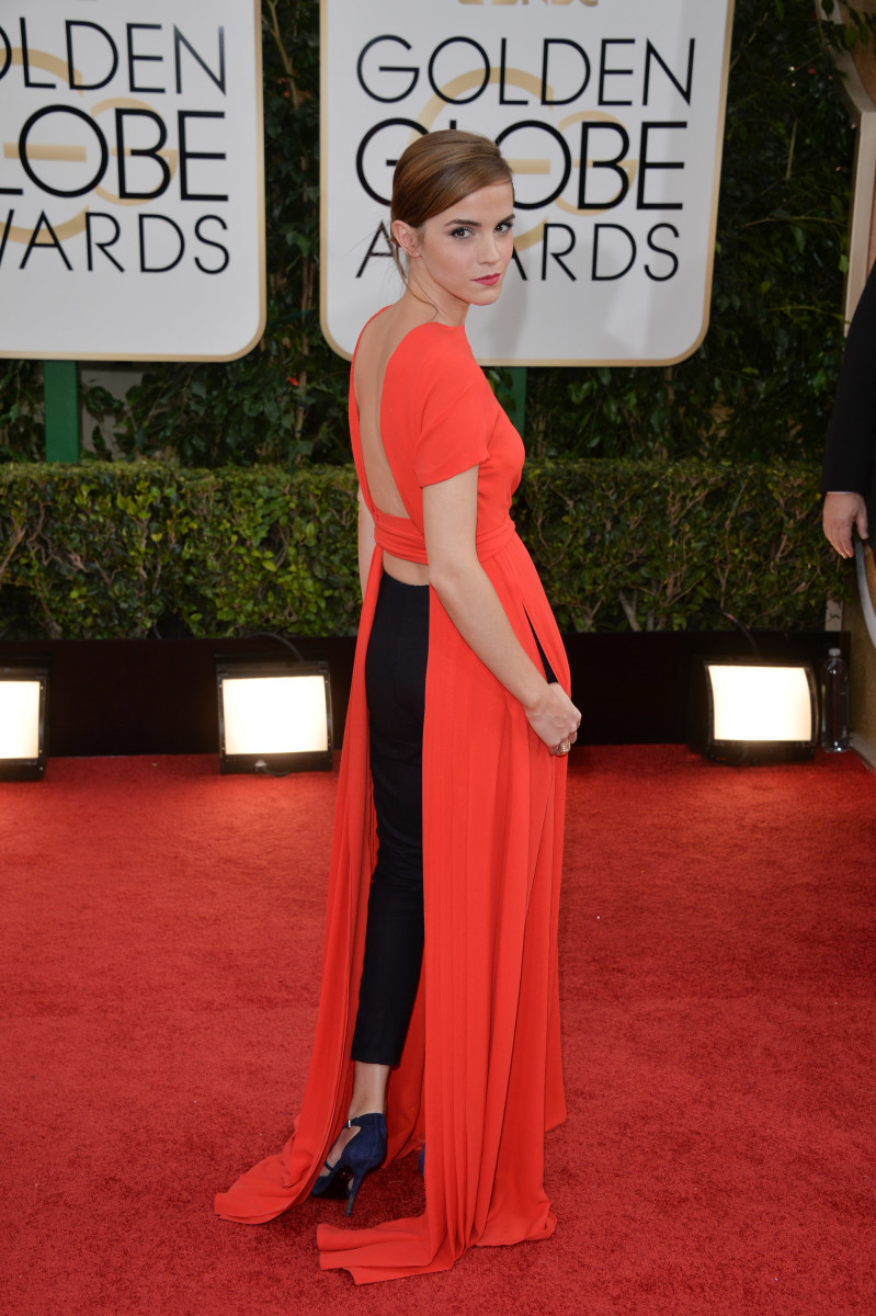 Emma Watson in Dior at the 2015 Golden Globes. Photo: George Pimentel/WireImage