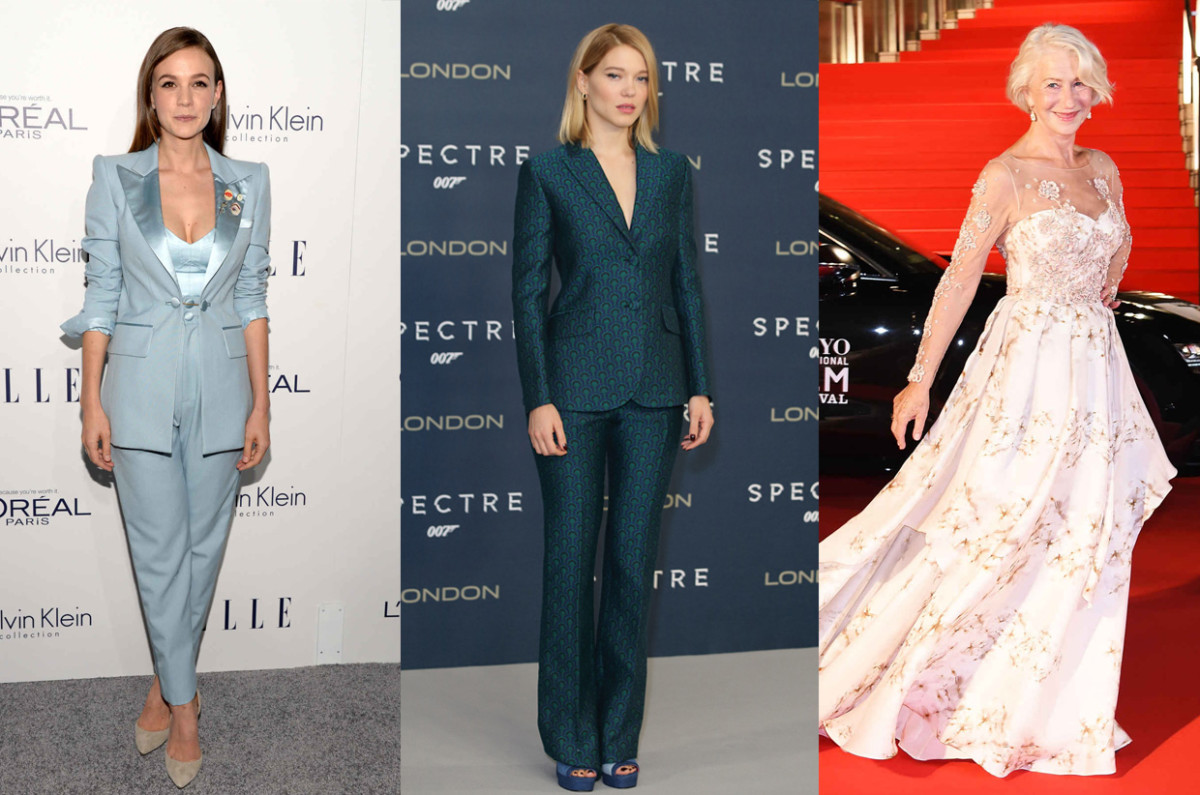 Actresses Carey Mulligan, Léa Seydoux and Helen Mirren. Photo: Michael Kovac/Getty Images; Dave J Hogan/Getty Images; Jun Sato/WireImage