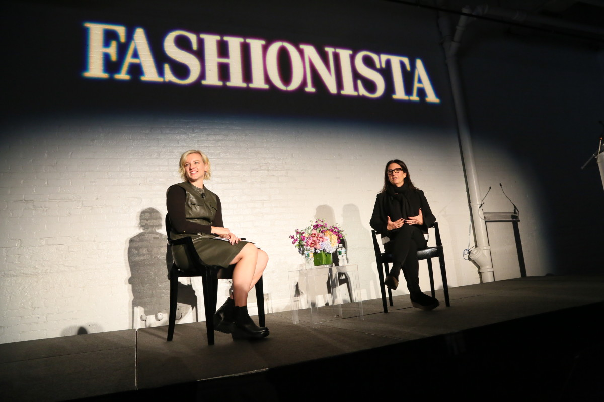 "Fashionista Beauty Editor at Large Cheryl Wischhover with Bobbi Brown at Fashionista's 2015 ""How to Make It in Fashion"" conference in New York City. Photo: Fashionista"