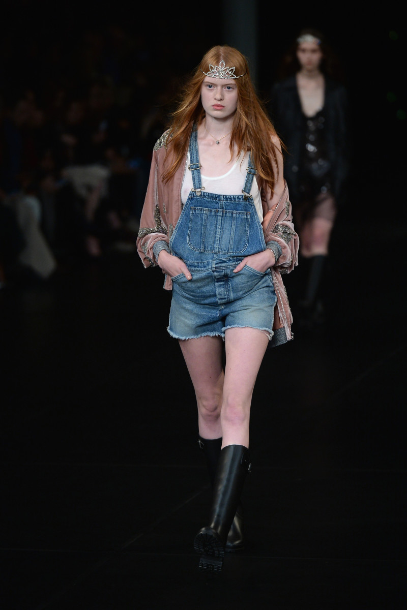 A look from Saint Laurent's spring 2016 collection. Photo: Dominique Charriau/Getty Images