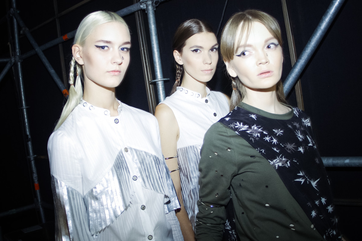 Backstage at Saint-Tokyo. Photo: Mercedes-Benz Fashion Week Russia