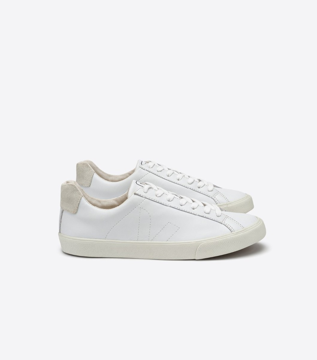 Veja Esplar leather extra white sneakers, $120, available at Bandier. Photo: Veja