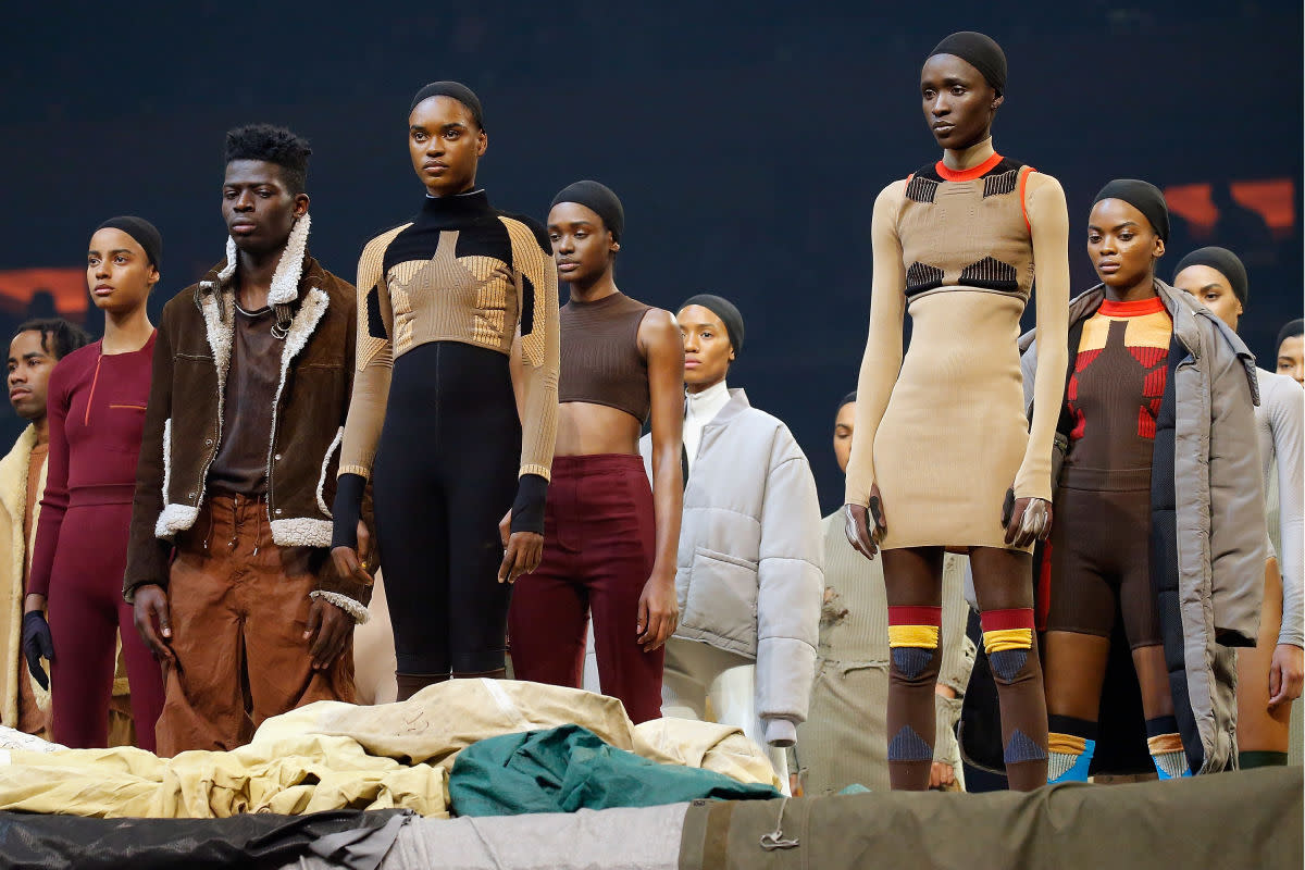 Models at Yeezy Season 3. Photo: P Yim/Getty Images