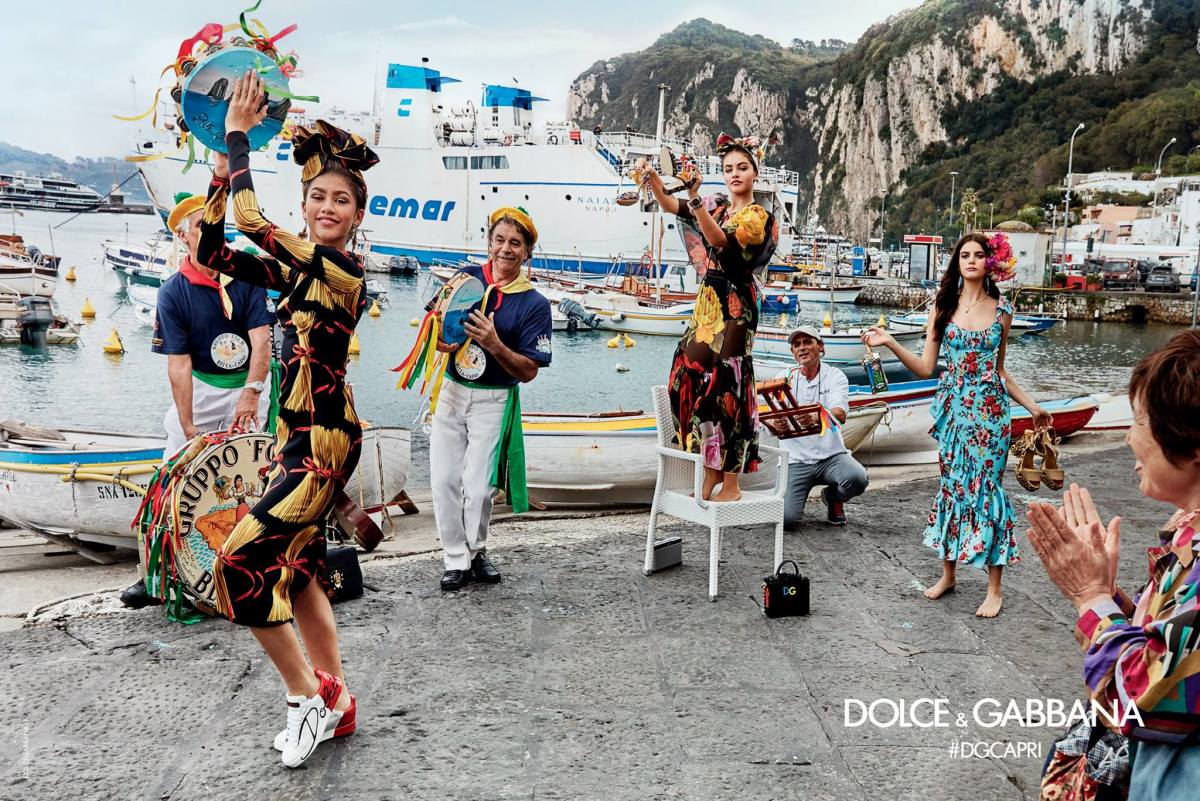 Dolce & Gabbana's spring 2017 campaign. Photo: Franco Pagetti/Dolce & Gabbana