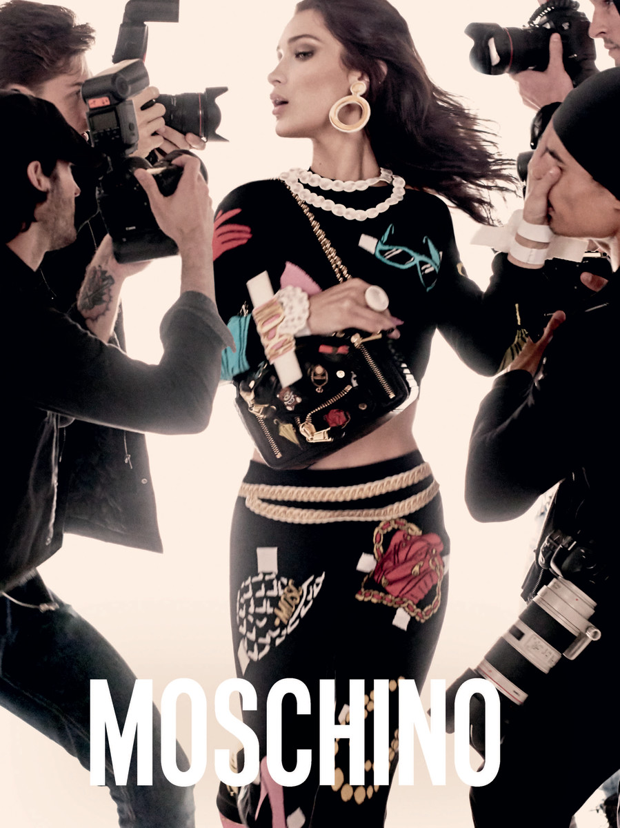 Bella Hadid for Moschino spring 2017. Photo: Steven Meisel