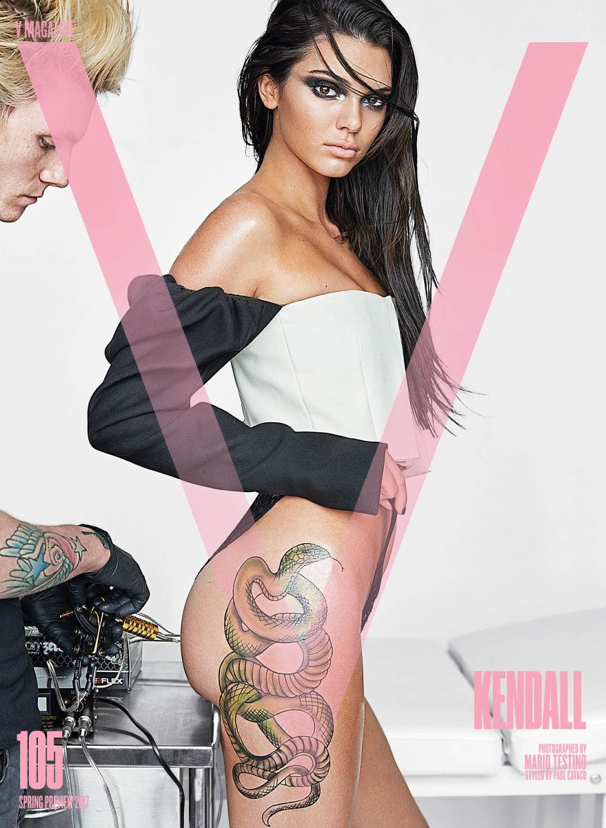 "Kendall Jenner for ""V"" Magazine's V105 January 2017 issue. Photo: Mario Testino/""V"" Magazine"