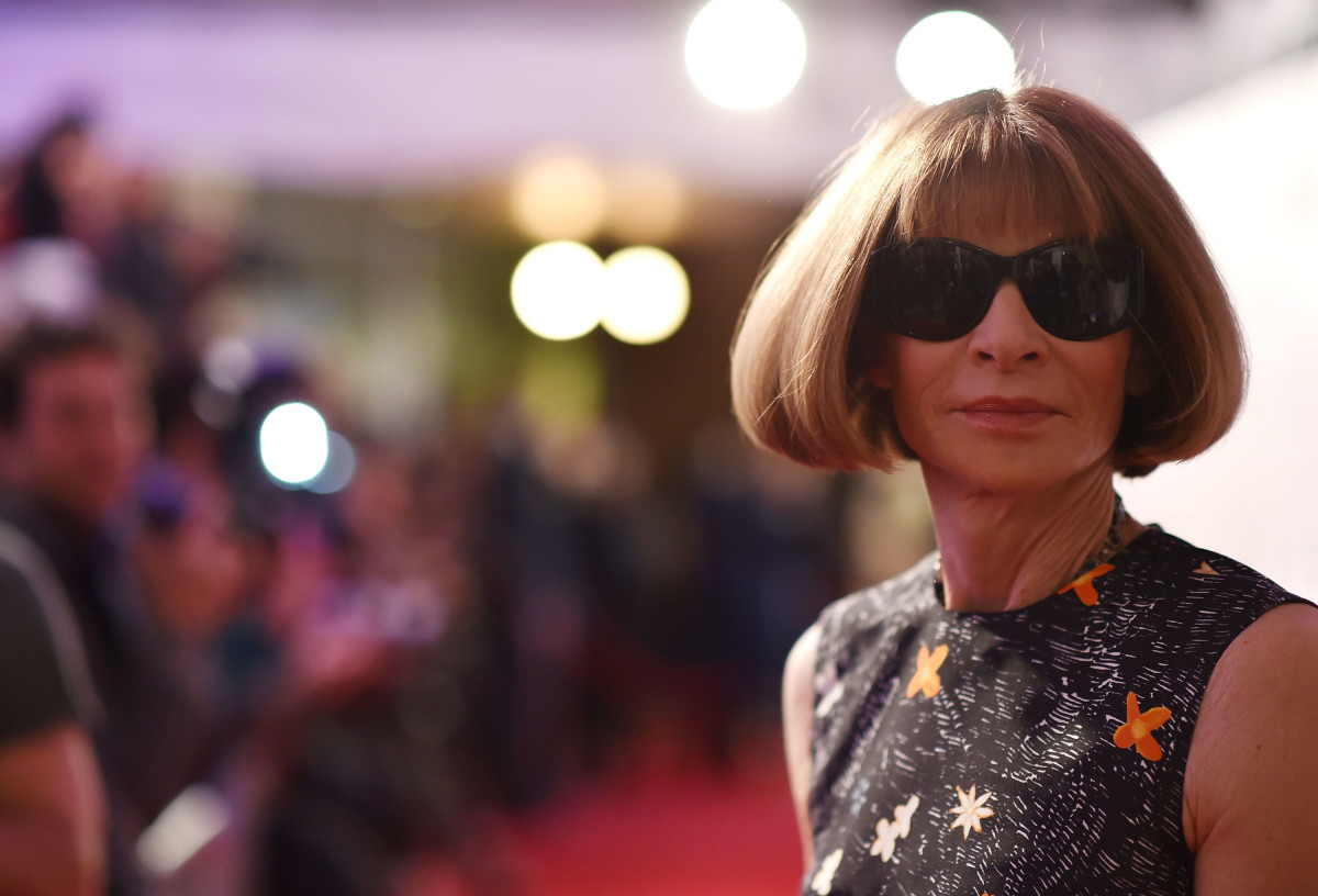 "Anna Wintour at the ""The First Monday In May"" world premiere during the 2016 Tribeca Film Festival on April 13, 2016 in New York City. Photo: Mike Coppola/Getty Images"