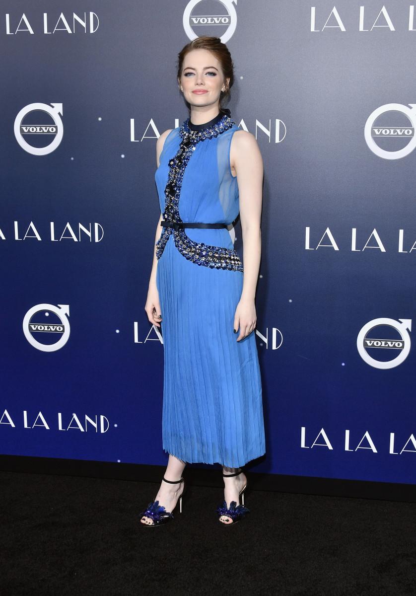 Emma Stone at the La La Landpremiere. Photo: Mike Windle/Getty Images